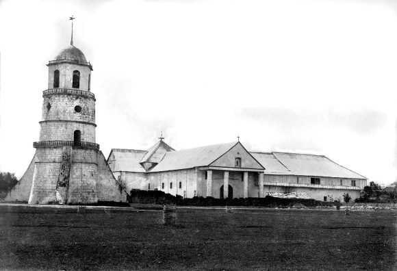 IN 1901. This photo taken in 1901 shows the church, convent, and bell tower of the St. Catherine of Alexandria Church in Dumaguete City. This photo is part of the University of Michigan Special Colletions and posted on Flickr by John Tewell.