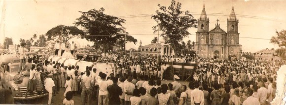 MOLO FIESTA. An undated photo of a fiesta celebration in front of the Molo Church.