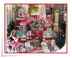 MERRY CHRISTMAS shop window