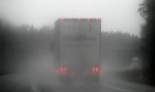 driving in rain.