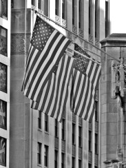 The flag B&W