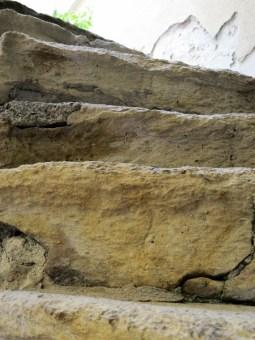 worn stairs