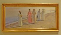 Michael Acher (1896) a stroll on the beach