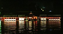 The Itsukushima Shrine by night
