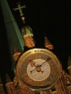 famous clock, night
