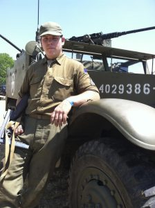David - Historical Cadet Corps with his most awesome toy!