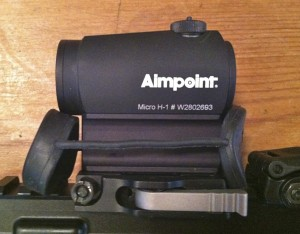 Aimpoint Micro H-1 with LRP Mount and Micro Spacer High Mount