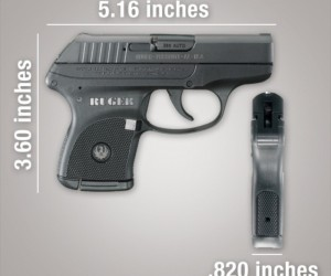 Ruger LCP .380 ACP pistol dimensions
