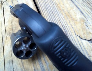 Ruger LCR .357 Magnum with Hogue Tamer grip for recoil