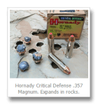 Ammo Review: Will Hornady Critical Defense Ammo Expand in Rocks?