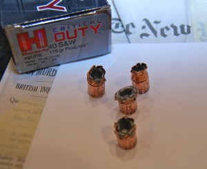 Hornady Critical Duty .40 S&W ammo expansion performance