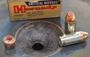 Hornady Critical Defense 45 ACP 185 grain