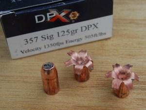 CorBon DPX .357 Sig ammo