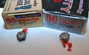 Hornady Critical Defense and Critical Duty 9mm expansion performance