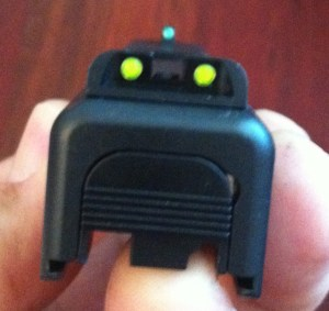 Glock 26 Gen 4 with TruGlo TFO Tritium Fiber Optic Sights
