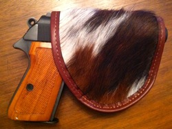 Pretty Dangerous Accessories Hair On Cowskin holster with Walther PPK