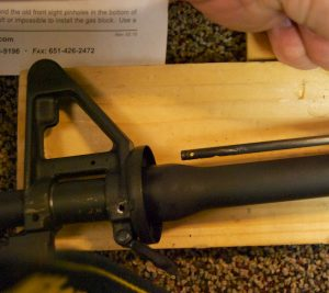 AR-15 JP Gas Block Installation remove gas tube