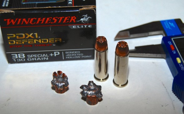 Winchester's PDX1 Defender .38 Special +P self-defense load.