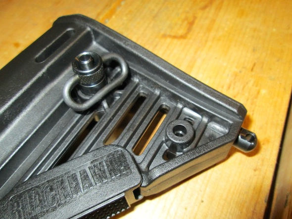 One of the nice features about the Blackhawk! buttstock is the flexibility of sling attachment points.