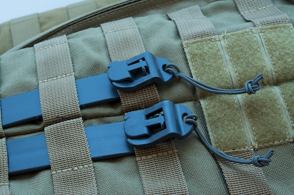 Two five-inch MOLLE Sticks. Shown here not hooking anything up so you can actually see them.