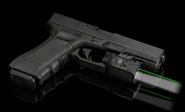 The new Crimson Trace CMR-204 (green) light and laser combo.
