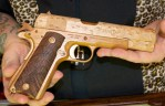 Believe it or not, this functional 1911 is made entirely, and I mean entirely, from wood.