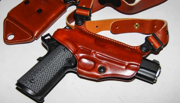 Galco's Miami Classic II shoulder holster rig.