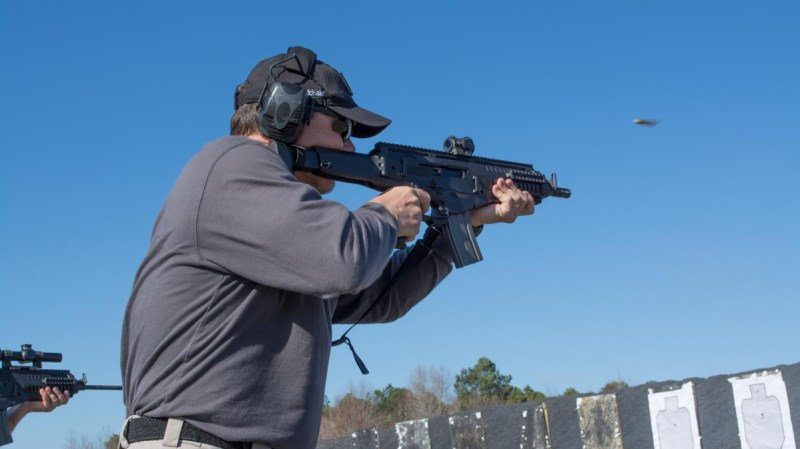 A short-barrel carbine like this Beretta ARX 100 makes an excellent home defense weapon. It's compact, yet far more powerful than a handgun.