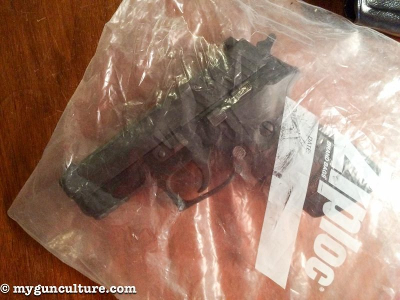 No, this isn't contraband or seized evidence, it's my Sig P229.