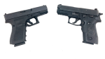 The Glock 19 and the Sig Sauer P229.