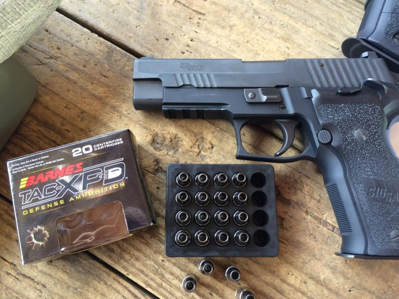 A great combination: Sig Sauer's P226 Single Action Only pistol and Barnes TAC-XPD ammo.