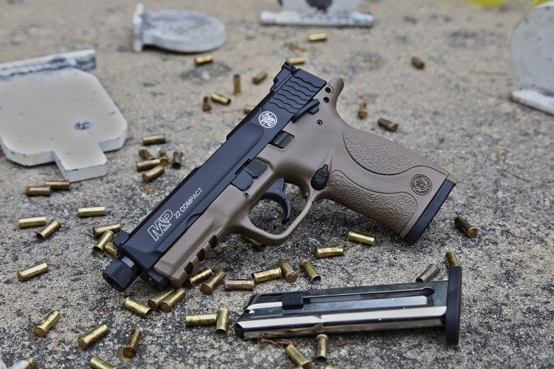 Smith & Wesson's M&P 22 Compact pistol is now available in flat dark earth.