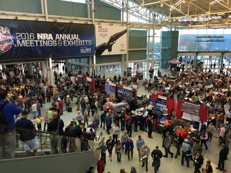 NRA Annual Meeting 2016. Yup, most of these people are carrying, yet, as usual, no incidents...