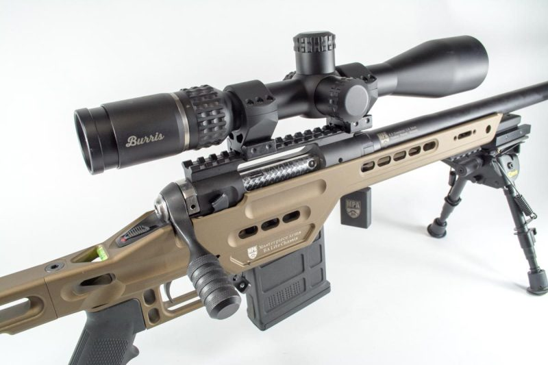 The Masterpiece Arms BA Lite PCR certainly lives up to its name. Shown here with a Burris Veracity 4-20x scope.