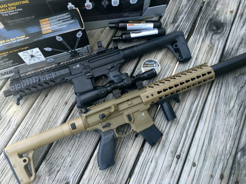 The Sig Sauer MPX Airgun (top) and MCX.