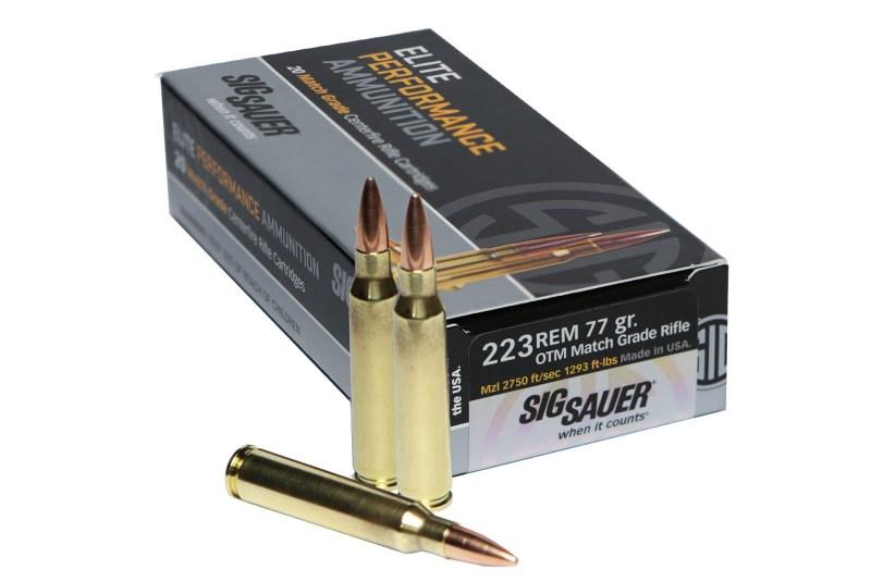Sig Sauer's new .223 Remington Match Grade Ammunition