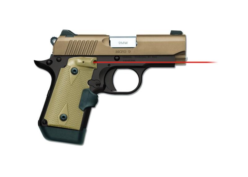 Crimson Trace Lasergrips for Kimber Micro 9 pistol.
