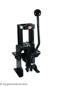 The MEC Marksman reloading press, shown with optional mount.