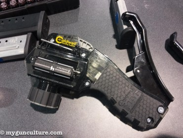 This nifty magazine loader from Caldwell loads just about any magazine. No more sore thumbs, just drop a bullet into the device and squeeze the handle.