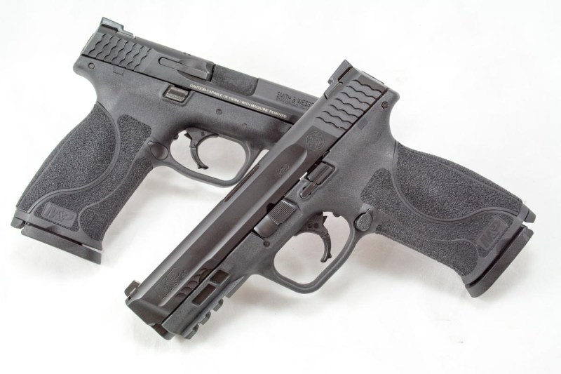 A matching pair of 4.25-inch-barrel pistols chambered in 9mm and .40 S&W.