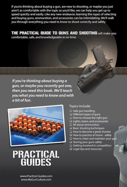 The Practical Guide to Guns and Shooting, Handgun Edition back cover
