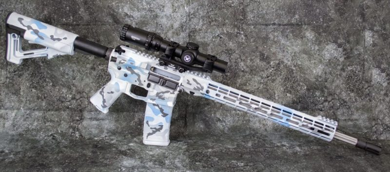 Let's take an up-close look at what went into our Aero Precision Arctic Camo AR-15.