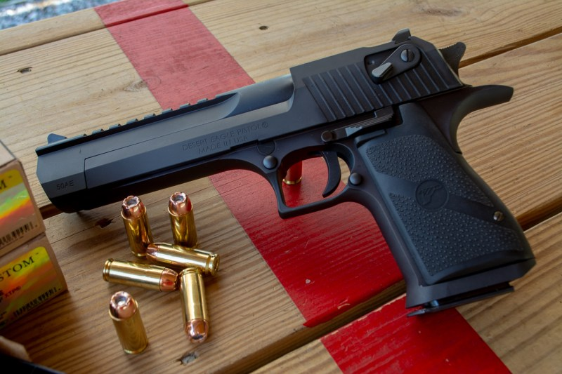 While available in other calibers, the Magnum Research Desert Eagle really hits its stride with the .50.