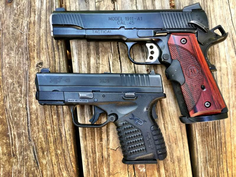 I have to twist my grip to fully reach the slide release on a 1911. I have to twist the opposite way to move my thumb back far enough to reach it on this XD-S.