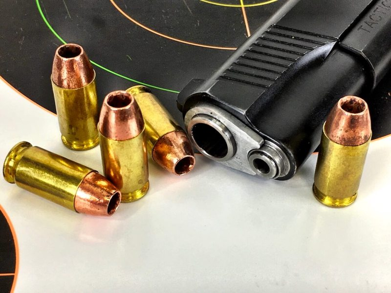 .45 These 16-grain Barnes TAC-XP all copper bullets zip along at over 1,300 feet per second.