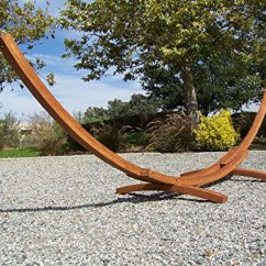Hanging Chair With Stand Dubai Chiavari Chairs Wedding Llc Petras 14 Ft Wooden Arc Hammock And Double Set - 450 Lb Weight Capacity My ...