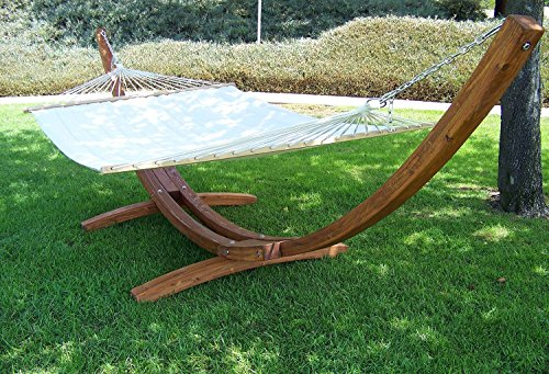 Double Wooden Arc Hammock Stand Use Wood