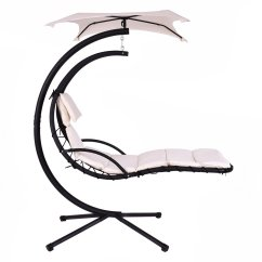 Hanging Lounge Chair Canada Bathroom Stools And Chairs Giantex Helicopter Hammock Beige