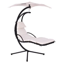 Hanging Lounge Chair Canada Retro Swivel Giantex Helicopter Hammock Beige