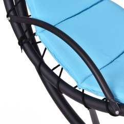 Hanging Hammock Lounge Chair Vanity Chairs With Back Giantex Helicopter Blue